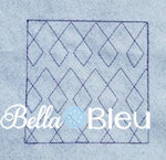 Stipple Diamond Argyle Quilt Quilting Stitch Machine Embroidery Design