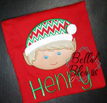Christmas Boy Elf Applique - 4 Sizes!