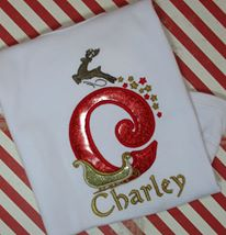 Christmas Santa's Sleigh Applique Font