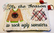 ITH Christmas Ugly Sweater Zipper bag Wallet