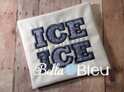 Applique Ice Ice Baby machine embroidery design