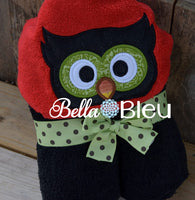 Owl Towel Topper Peeker Machine Applique Embroidery design