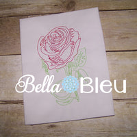 Beautiful Rose #7 Embroidery Colorwork Machine Design