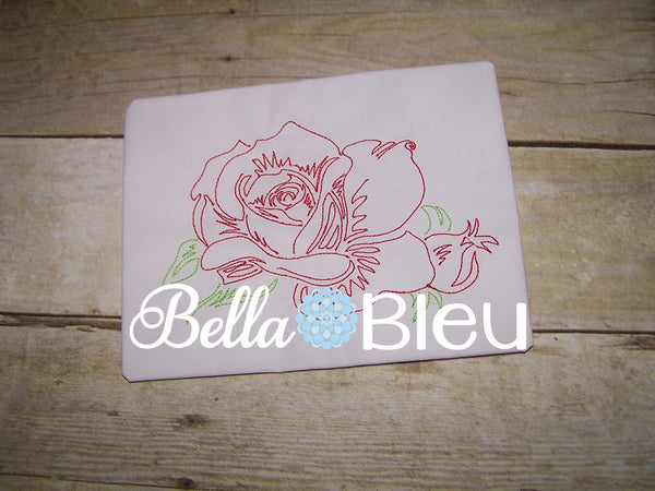 Beautiful Rose #5 Machine Embroidery Colorwork Design