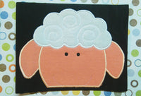 Lamb Sheep Towel Topper Peeker Machine Embroidery Applique Design