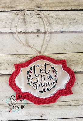 ITH Let it Snow Scribble Christmas Ornament