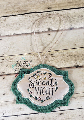 ITH Silent Night Scribble Christmas Ornament