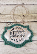 ITH Merry Christmas Scribble Christmas Ornament
