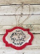 ITH Merry & Bright Scribble Christmas Ornament