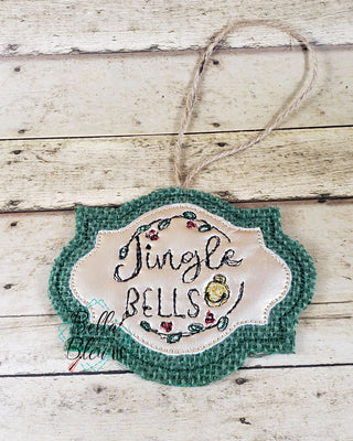 ITH Jingle Bells Scribble Christmas Ornament