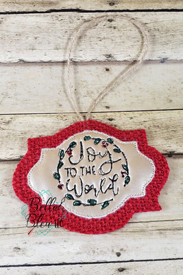 ITH Joy to the World Scribble Christmas Ornament