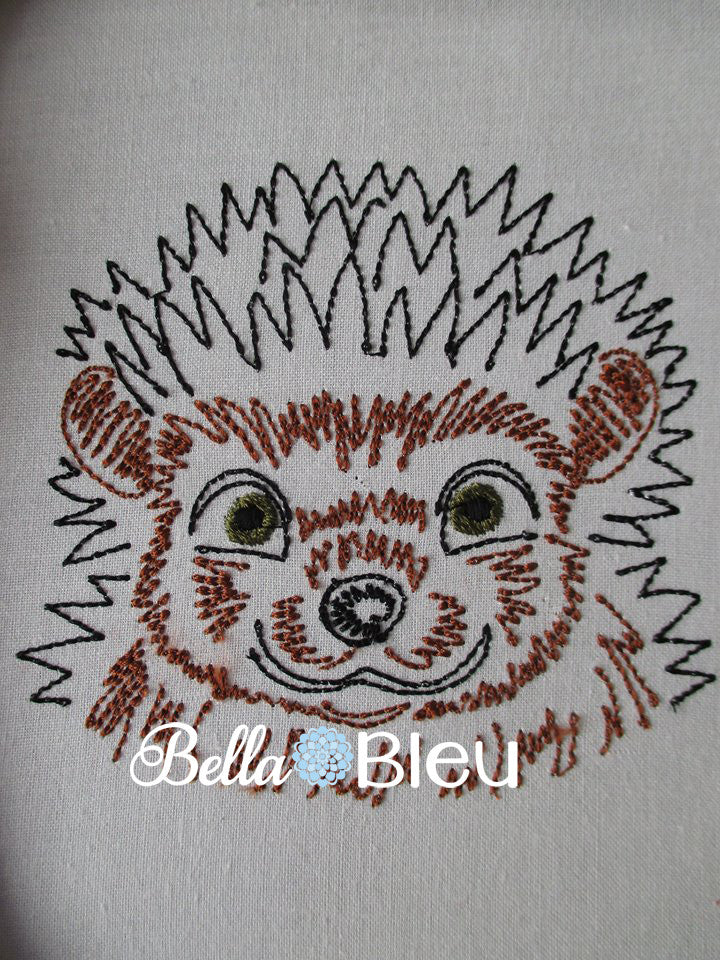 Porcupine Wild Animal machine colorwork embroidery design