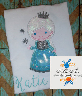 Ice Queen Princess Applique