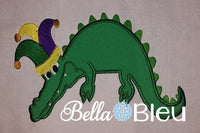 Mardi Gras Dragon Applique Embroidery Design