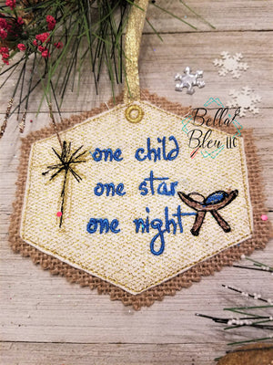 ITH One Child One Star One Night Scribble Christmas Ornament
