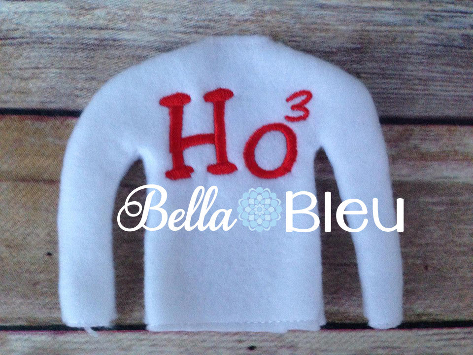 ITH In The Hoop Elf Ho Squared Sweater Shirt Embroidery Design