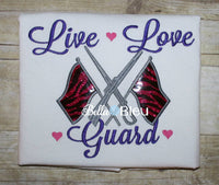 Color Guard Marching Band Machine Applique Embroidery Design