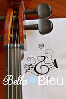 Musical Music Notes and Violin Machine Embroidery design