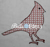 Motif Cardinal Machine Filled Embroidery design