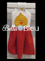 Farm Duck Hooded Towel or Bib peeker Topper Machine Embroidery Applique Design