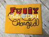 Geek Fully Charged Phone cord battery filled Embroidery design