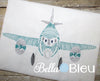 Redwork Colorwork Boys  Airplane Machine Embroidery Design