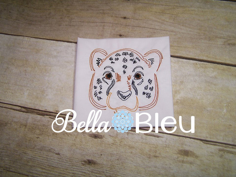 Cheetah Wild Jungle Cat Colorwork Embroidery Machine Design