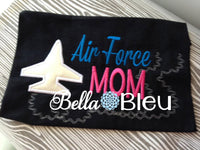 Airforce Military Mom Machine Applique Embroidery Design 5x7