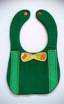 ITH In The hoop Bib with Bowtie & Suspenders applique machine embroidery design