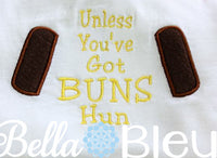 Geek Inspired Star Wars If you got Buns hun machine applique embroidery design