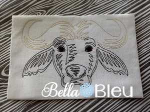 Water Buffalo machine embroidery design