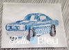 Redwork Colorwork Mustang Fastback 1969 Muscle Car Fathers Day Machine Embroidery Design