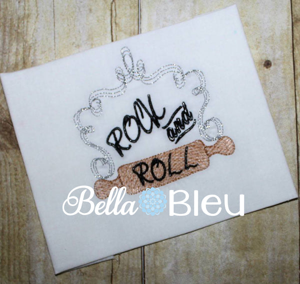 Rock and Roll Kitchen rolling pin sketchy machine embroidery design