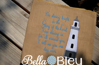 Glory of the Lord with Applique Lighthouse  Religious Saying Machine Embroidery Design