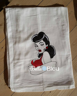 Vintage Rockabilly Embroidery design, Retro Sexy Vixen lady Rockabilly Design, Machine Embroidery Design, Retro Urban Embroidery Design