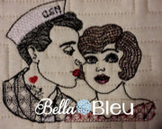 Vintage Military Navy Retro Urban Rockabilly Navy Couple