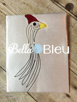 Guinea head Bird Farm Machine Embroidery Design
