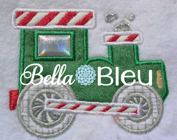 Christmas Train Engine Candy Express Applique Machine Embroidery Design