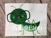 Applique Exclusive Grasshopper Boy Machine Embroidery Design