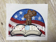 God & Country Fourth 4th of July Presidential Machine Applique Embroidery design