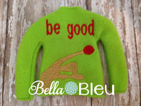 ITH In The Hoop Elf Be Good Inspired ET Sweater Shirt Machine Embroidery Design, Christmas Embroidery