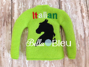 ITH In The Hoop Elf Italian Stallion Sweater Shirt machine embroidery design