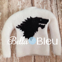 "ITH In The Hoop Elf ""Game of Thrones Inspired Lion  Clan"" Sweater Shirt Machine Embroidery Design"