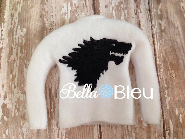 ITH Inspired Game of Thrones Wolf Clan Elf Sweater Shirt machine Embroidery design