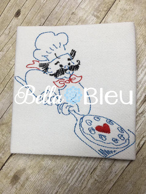 Pizza Chef Kitchen Colorwork Machine Embroidery Design
