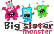 Big Sister Monster Applique