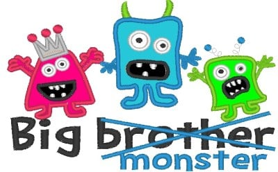Big Brother Monster Applique