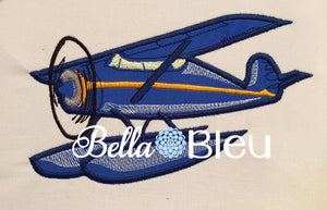 Sea Airplane Plane Machine Applique Embroidery Design