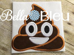 Emoji Poo Poop  Faces machine embroidery applique designs