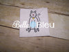 Stick Kitty Cat Figure Machine Embroidery Design